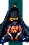 Batman y Blue Demon - color