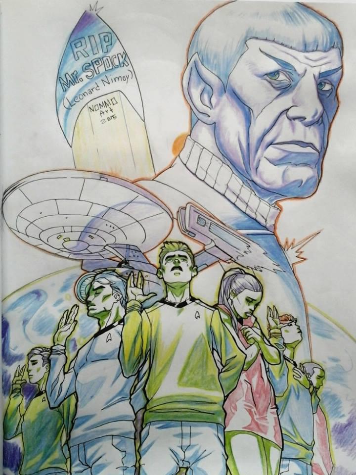 RIP Mr. Spock ( Mr Leonard Nimoy) by N0mm0