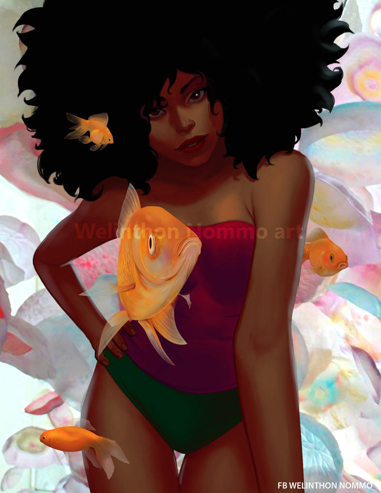 Afrogirl and fiches by N0mm0