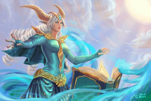 Tidal Enchanter Lyra - Vainglory game fanart