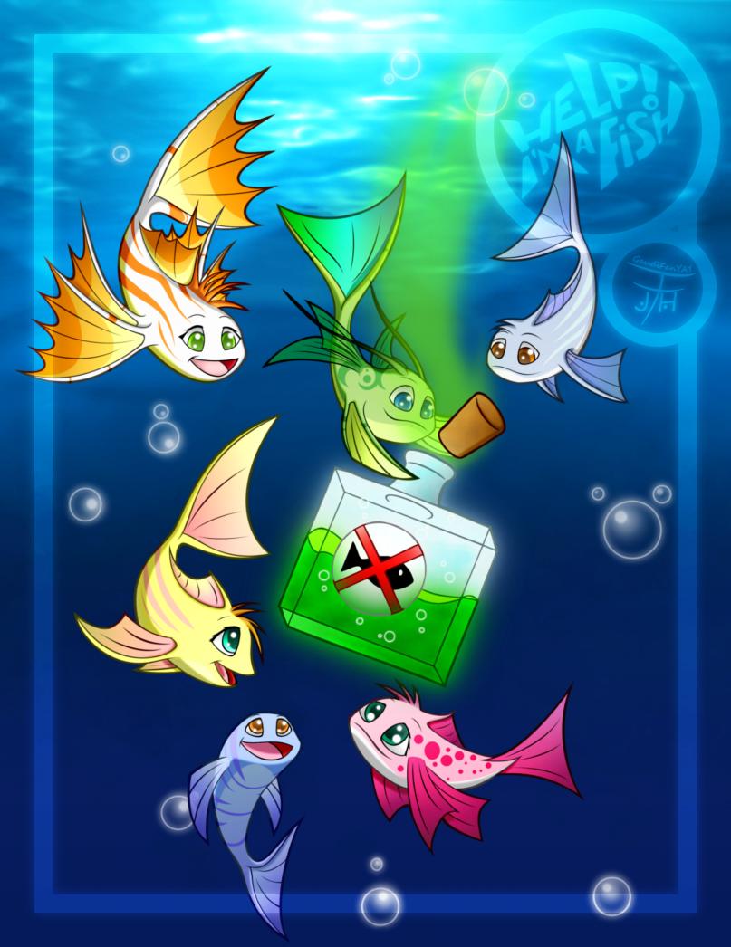 Help im a fish by gaudifanyay on deviantart for Help i ma fish
