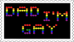 Dad I'm Gay Stamp by engineerJR