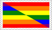 Lesbians and Gays Flag Stamp by engineerJR