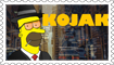 Homer Kojak Stamp by engineerJR