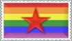 Rainbow Revolutionist Stamp by engineerJR