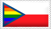 Czech Rainbow Flag Stamp by engineerJR
