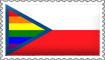 Czech Rainbow Flag Stamp by engineerJR