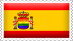 Spanish Rainbow Flag Stamp by engineerJR