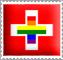 Swiss Rainbow Flag Stamp by engineerJR
