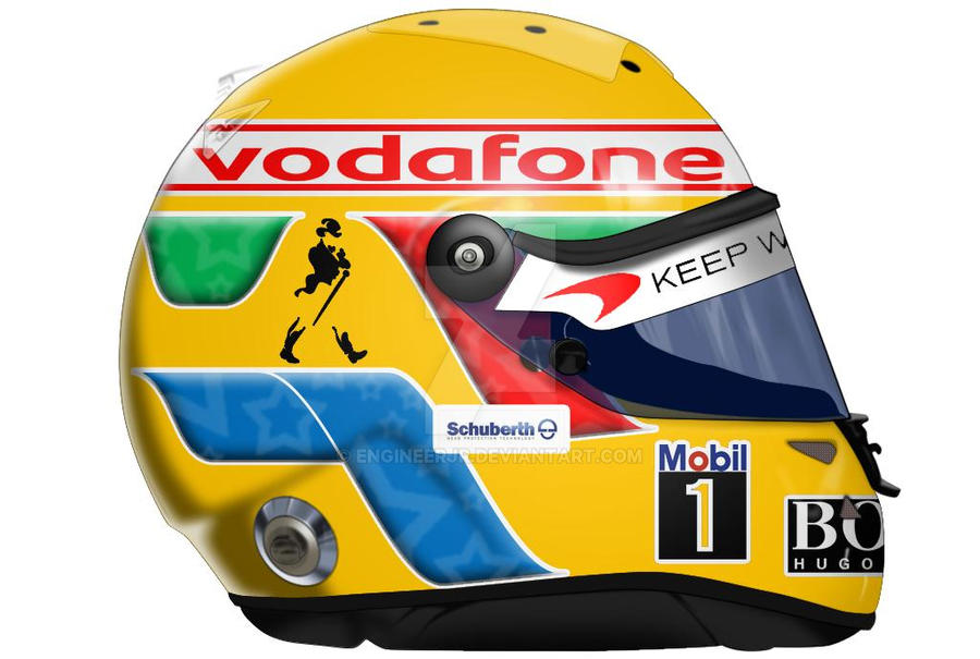 Lewis Hamilton Helmet by engineerJR