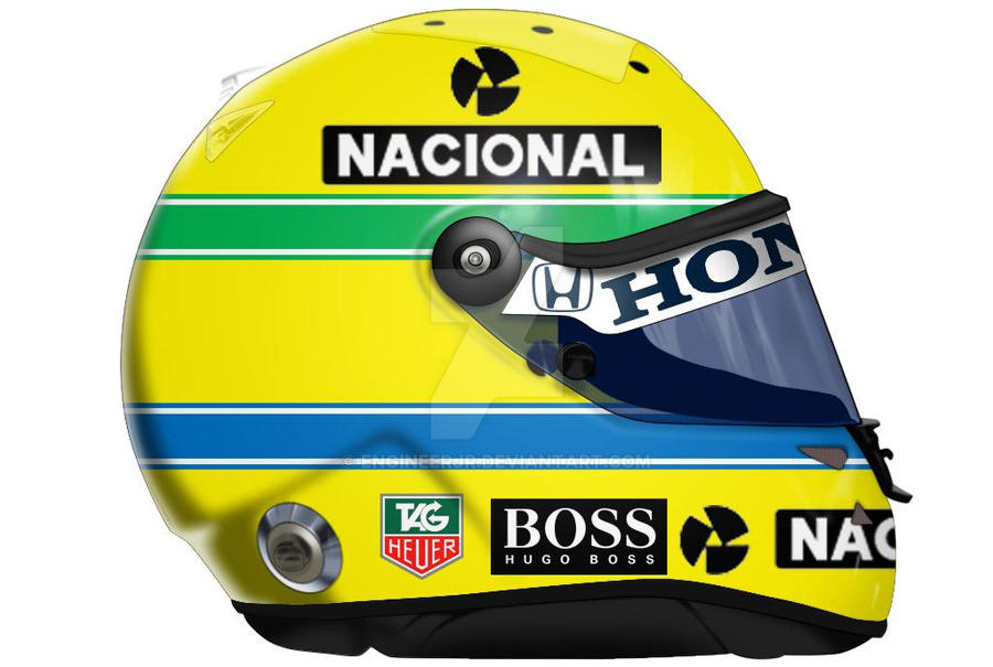 Ayrton Senna Helmet by engineerJR
