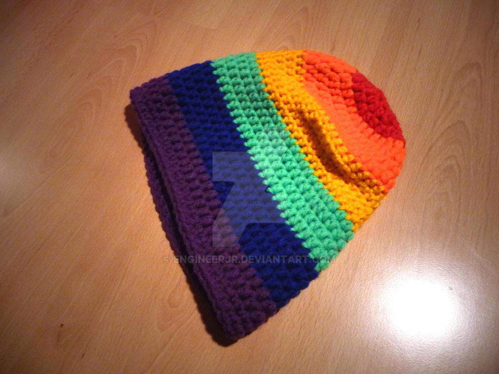 Rainbow Beanie by engineerJR