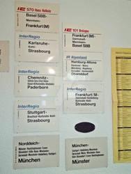 Zuglaufschilder