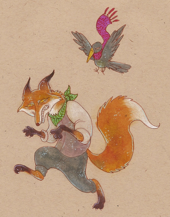 fox and a crow by luve