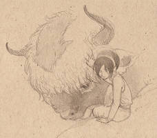 avatar - toph and appa by luve