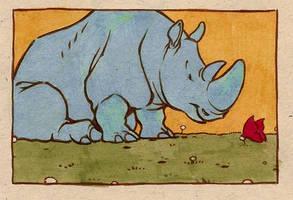 a rhino by luve