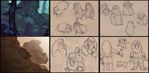 troll n hedgie doodles by luve