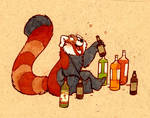 red pandas AND alcohol
