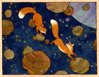 space foxes by luve