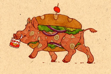 a sandwich boar by luve