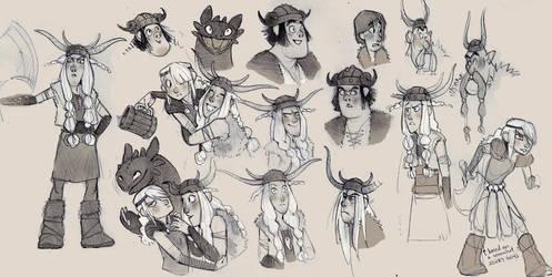 more HTTYD fan art doodles by luve