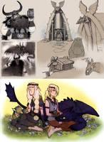 HTTYD fan doodles - few more by luve