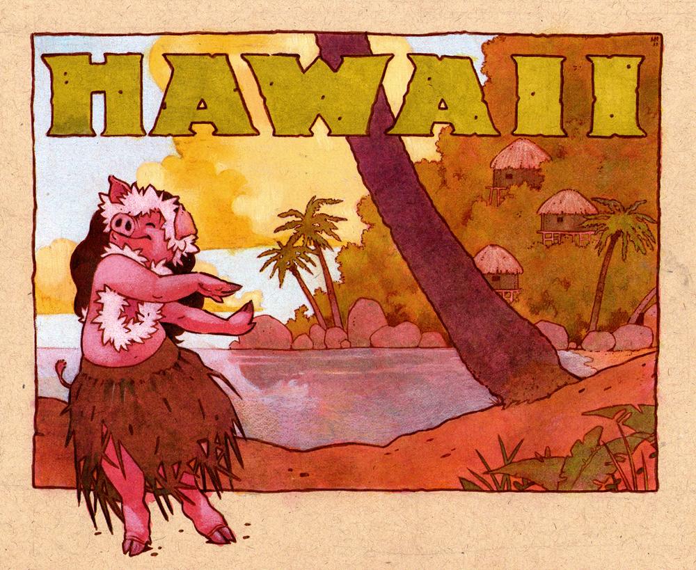 hula pig by luve
