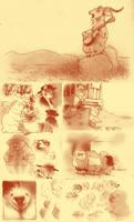 moleskin doodle pages by luve
