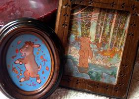 tiny framed pieces