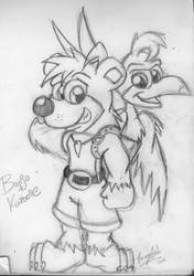 Banjo and Kazooie by KrazyGal