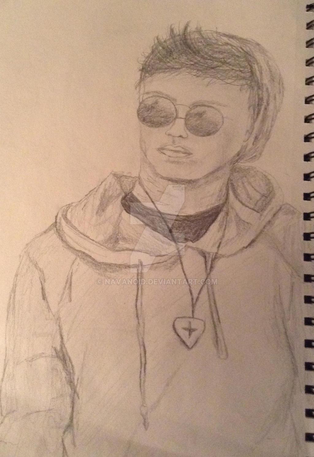 Pencil drawing of teenage guy by navanoid