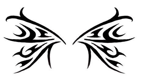 stylized wings by BombshellTattoo