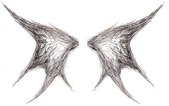 scribble wings by BombshellTattoo