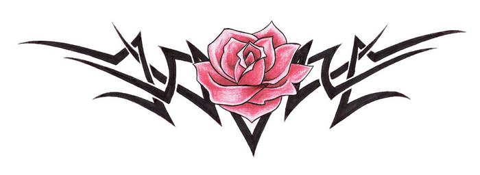 rose tribal by BombshellTattoo