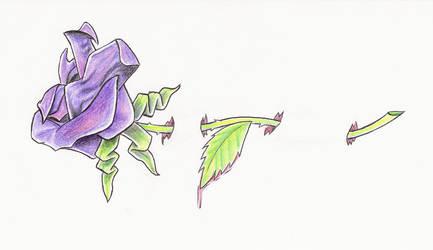 pierced rose by BombshellTattoo