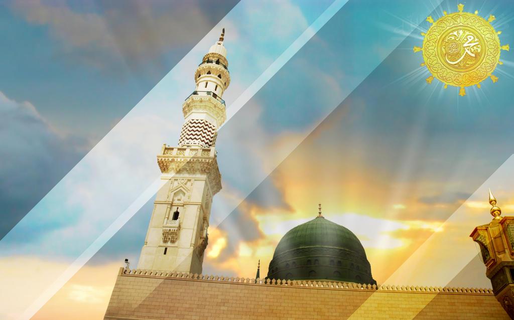 Islamic wallpaper masjid e nabwi HD by SHAHBAZRAZVI on