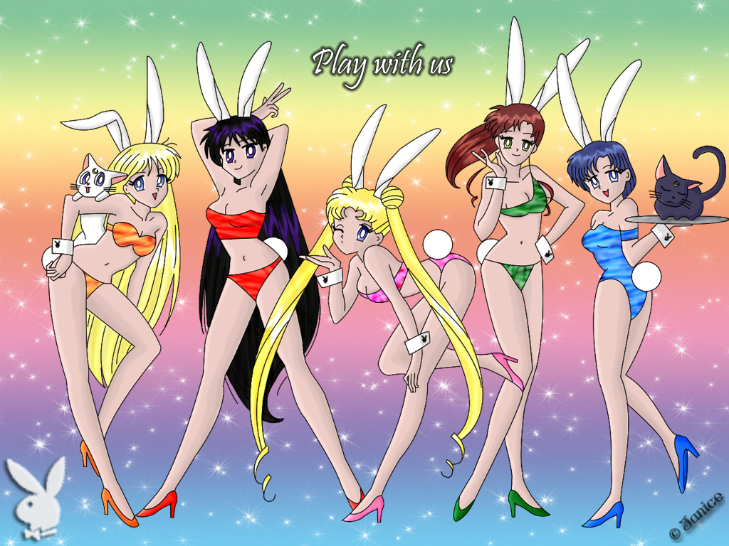 Sailor Moon Bunnies Wallpaper2 by chaotic-chick