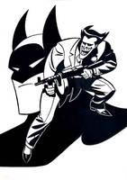 Batman vs Joker by MsXMaryX