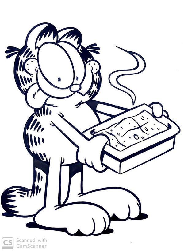 Garfield Loves Lasagna By Msxmaryx On Deviantart