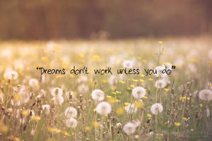 Dreams don't work unless you do by Pamba
