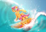 Scootaloo Surfing