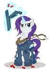 Rarity and her gun of frendship