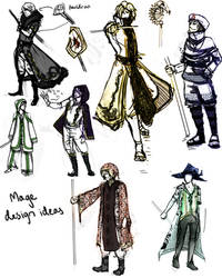 Mage Outfit Design sketches by iovu