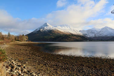 Winter on Loch Leven by MaresaSinclair