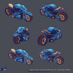 lowpoly naked power bike