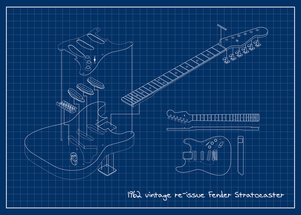 39 62 Fender Stratocaster Blueprint By Jvandalist On Deviantart