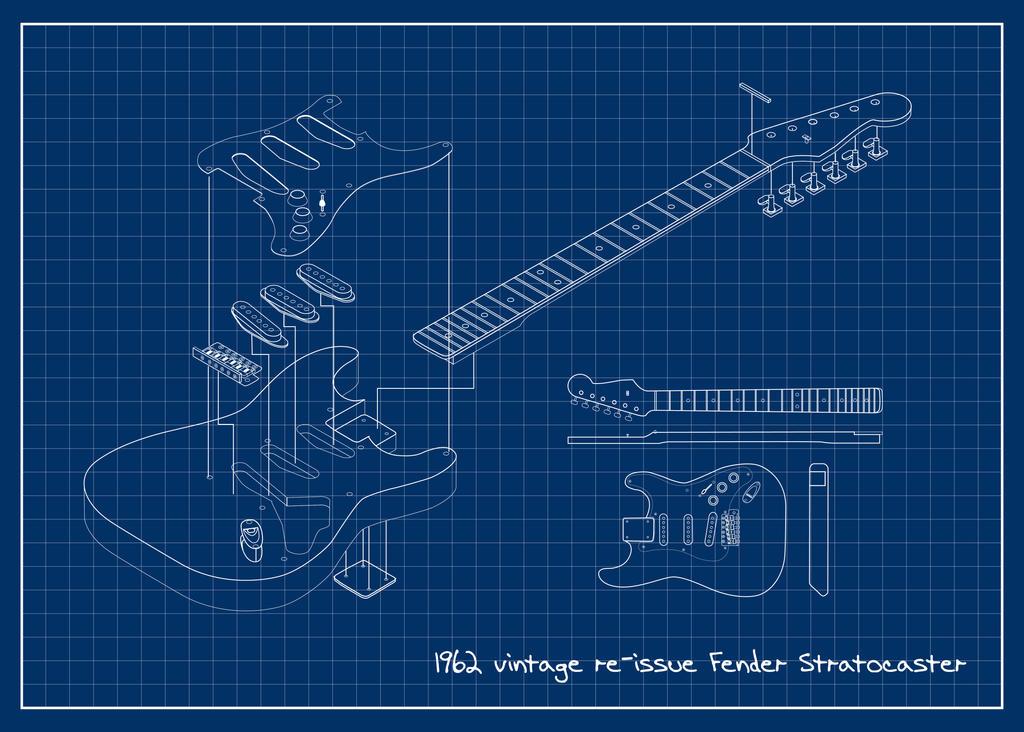 62 Fender Stratocaster Blueprint by jvandalist on deviantART