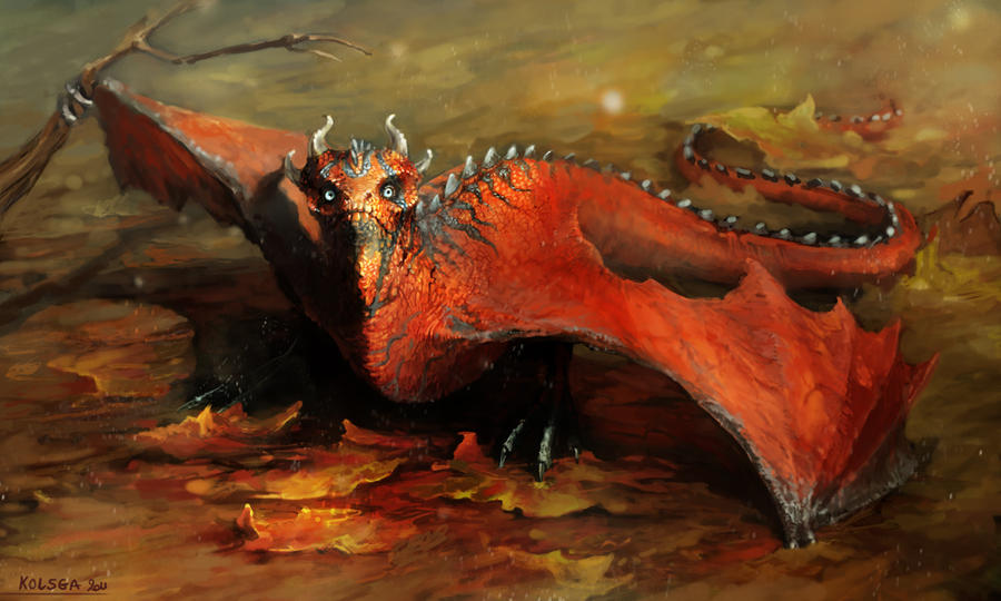 mini red drake by Kolsga