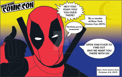 Comic Con Mailer Project: Deadpool by integramoiraisyndori