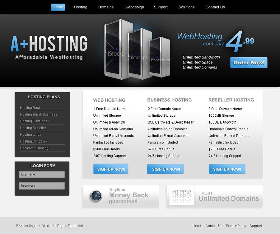 Webhosting Template by Fostinwd on DeviantArt